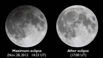 November 2012's penumbral lunar eclipse