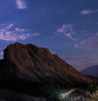 Perseid meteor over Iran