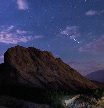 Perseid meteor over Iran