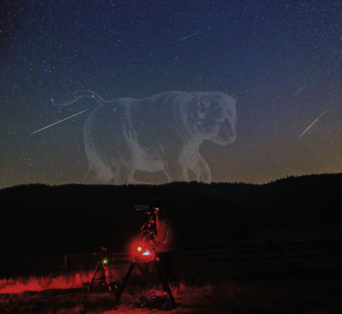 Perseids crossing Ursa Major