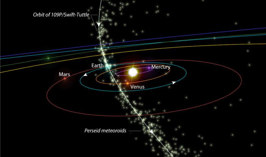 Perseids in space