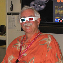 Peter Smith with 3D glasses