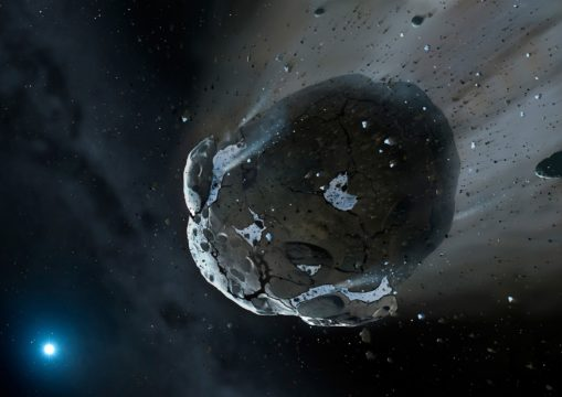 Heat-stressed asteroid
