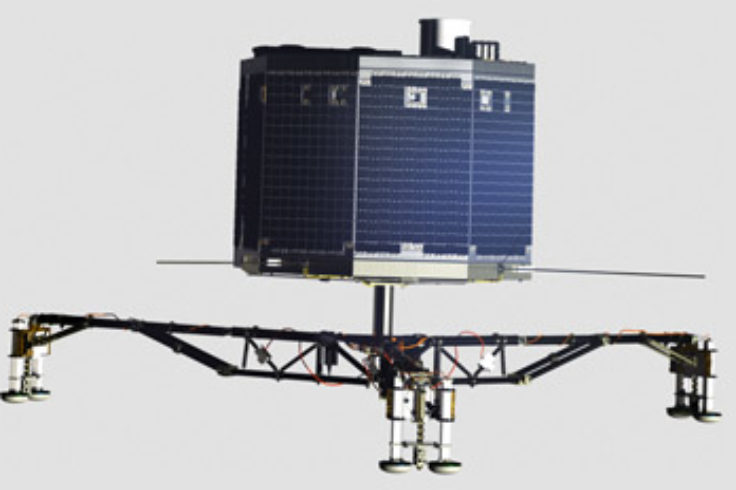 Side view of Philae lander