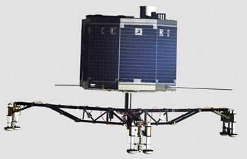 Side view of Philae lander