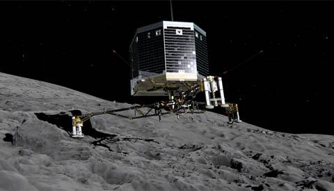 Philae landing art on Comet Comet 67P/Churyumov-Gerasimenko