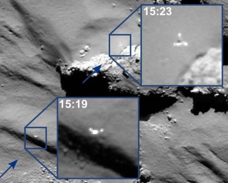 Philae captured in midair