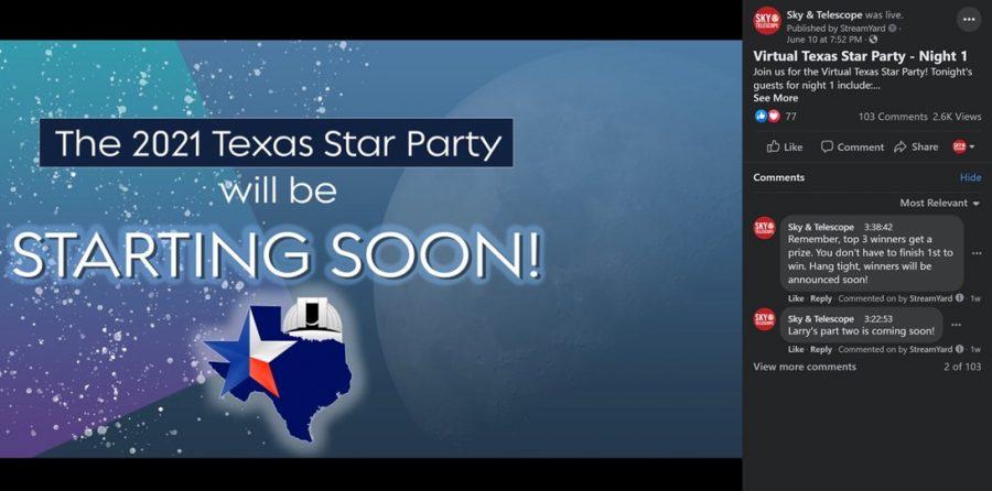 Virtual Texas Star Party 2021