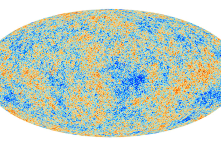 Planck temperature map of universe
