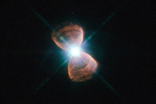 White dwarf in a planetary nebula