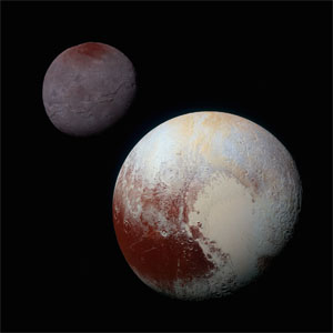 Pluto and Charon color comparison