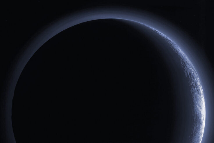 Looking back at Pluto