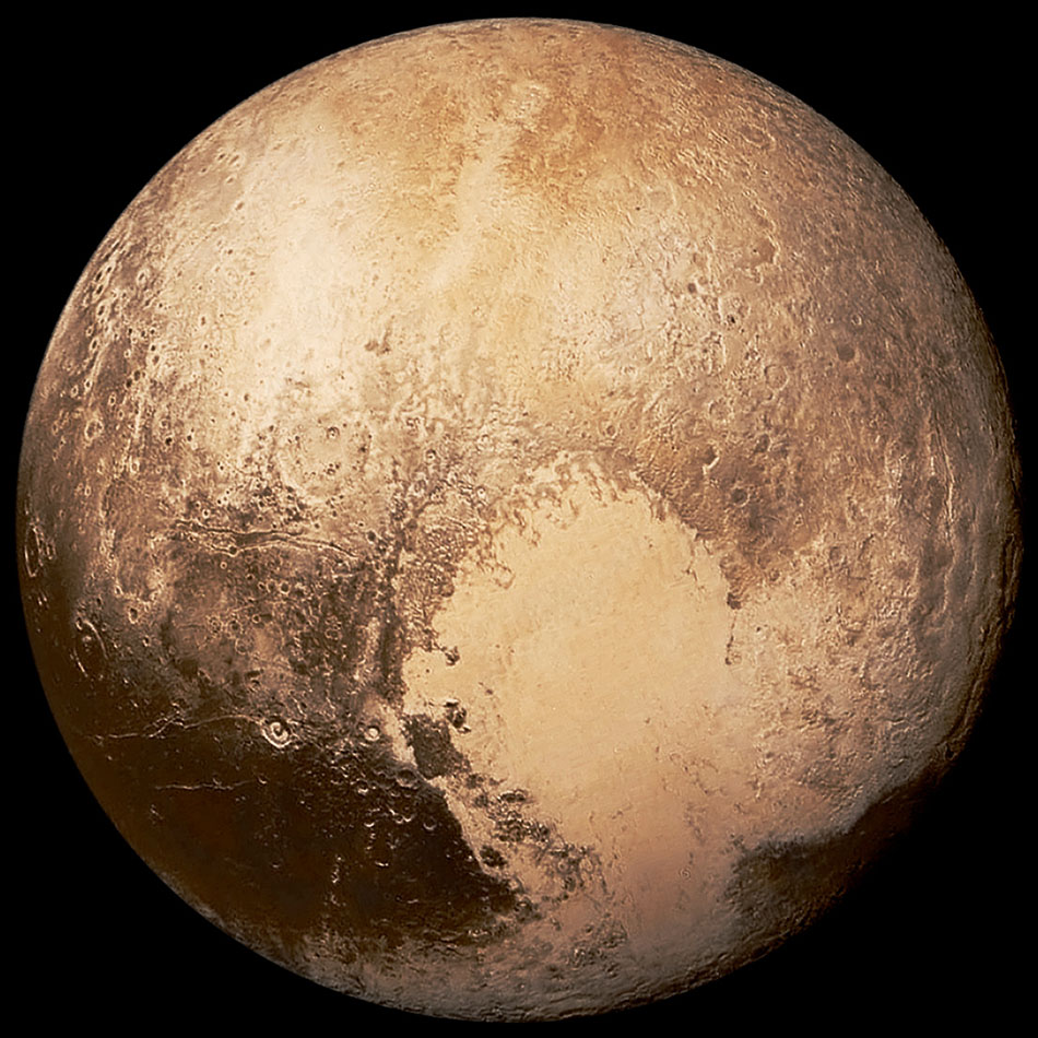 "Pluto and its ""heart"""