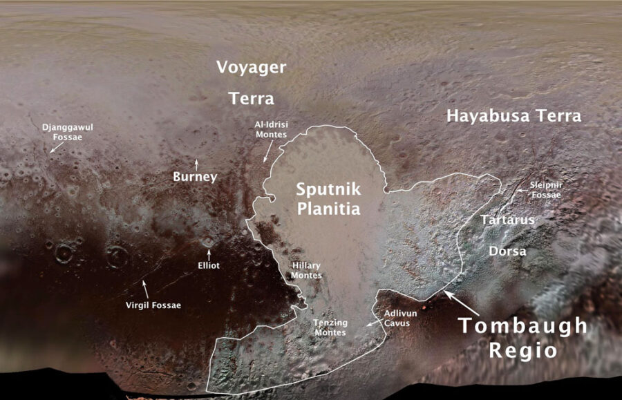 The IAU has already named many features on Pluto's surface