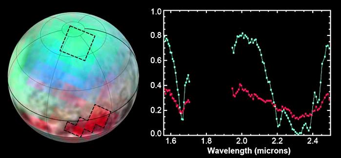 Pluto methane maps