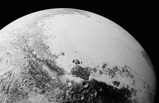 Spherical mosaic of Pluto