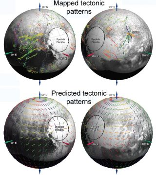 Pluto's fracture patterns