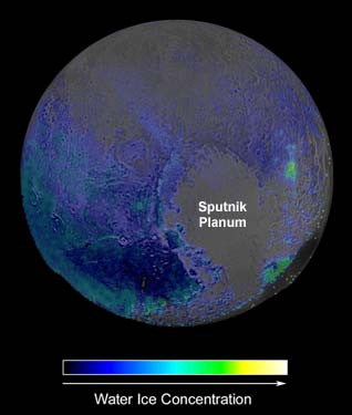Pluto water-ice map