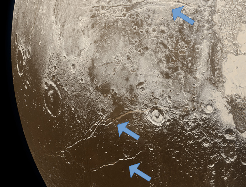 Expansion faults on Pluto