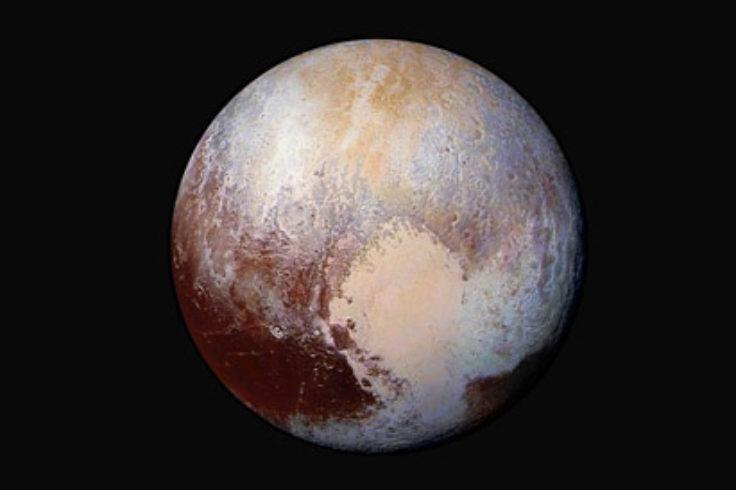 Pluto in false color
