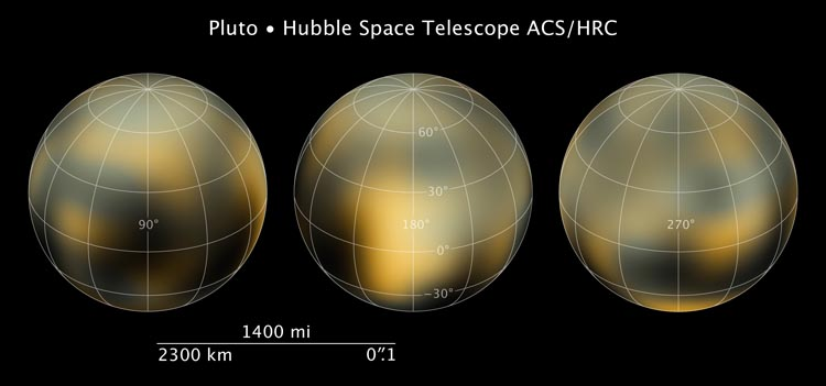 Hubble's maps of Pluto