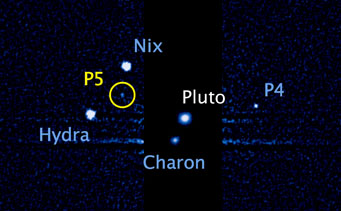 Pluto and its five moons