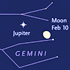 Jupiter and Gemini in February