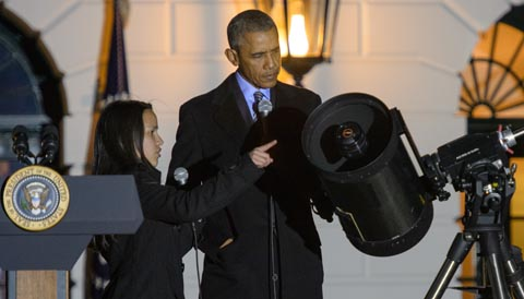 President Obama and Sofia Alvarez-Bareiro