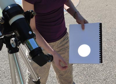 Projection method for solar viewing