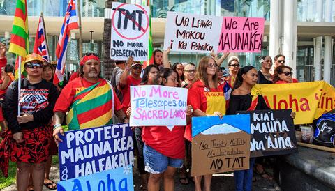 Protestors at IAU