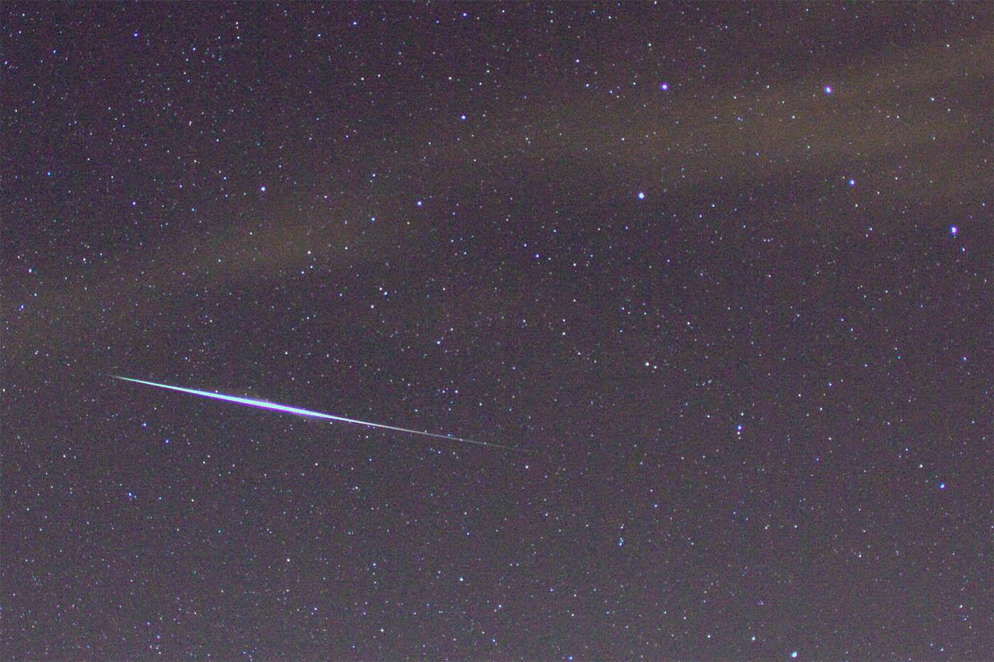 Bright Quadrantid meteor