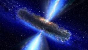 An artist's conception of a distant quasar.  NASA
