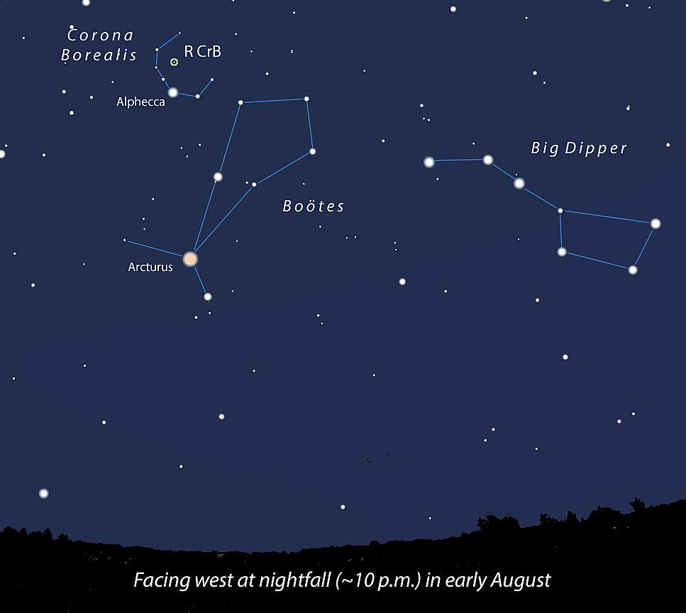 Variable Star R Coronae Borealis Awakes Pluto Blocks A Star Sky Telescope