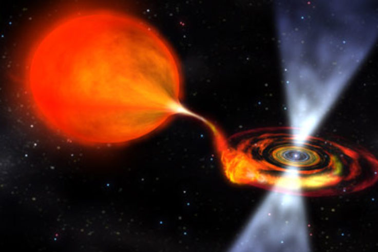 Bursting Pulsar before transition (artist's concept)