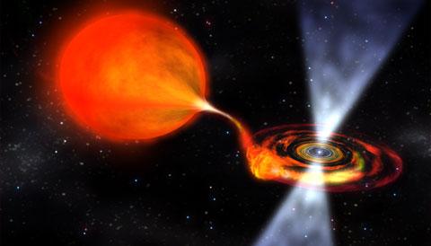 Bursting Pulsar before transition (artist's concept)