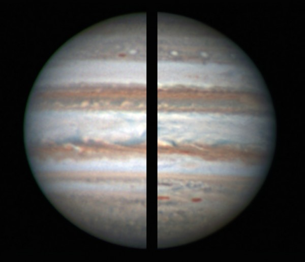 Comparing debayering algorithms on Jupiter