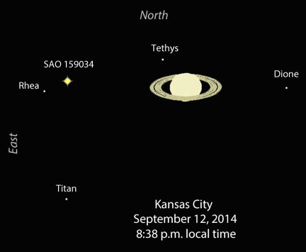 "Saturn gains a temporary ""moon"""