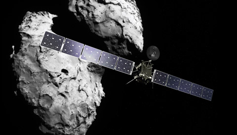 Rosetta and Comet 67P artwork