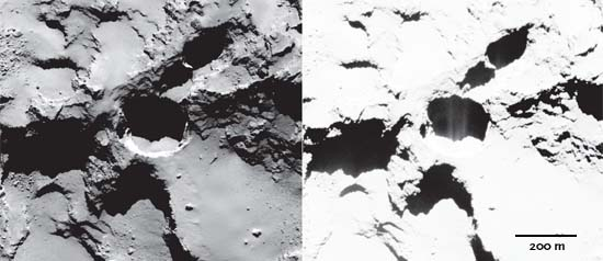 An active pit on Comet 67P?