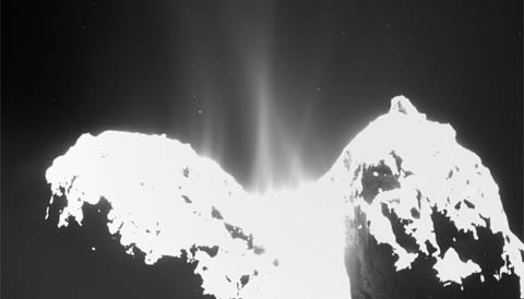 Jets from Comet 67P seen by Rosetta