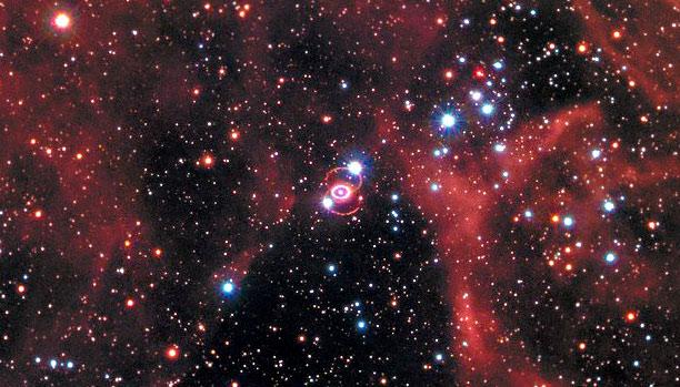 Supernova 1987A remnant, medium field