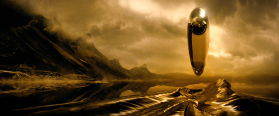 Spaceship of the Imagination over Titan