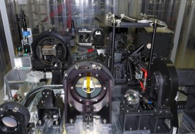 This picture shows the complex optics of the SPHERE exoplanet instrument for the VLT just before it left France and was shipped to Chile in February 2014. SPHERE Project / ESO / J.-L. Beuzit