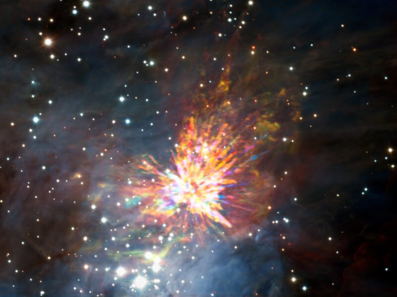 An explosive outflow of molecular gas within the Orion Nebula