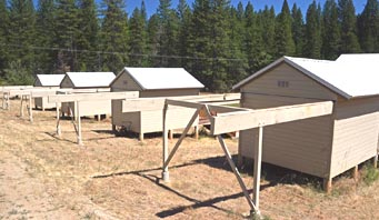 Four sheds at Sierra Remote Observatories