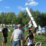 Aligning a refractor at Summer Star Party 2013
