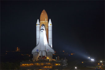 <i>Endeavour</i> prepared for launch