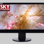 Computer with Sky & Telescope logo