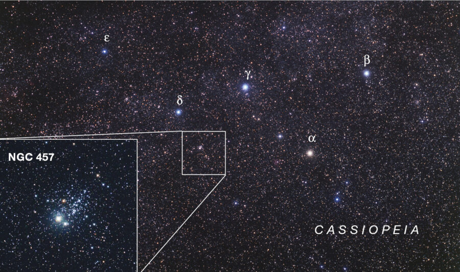 Cassiopeia and NGC 457