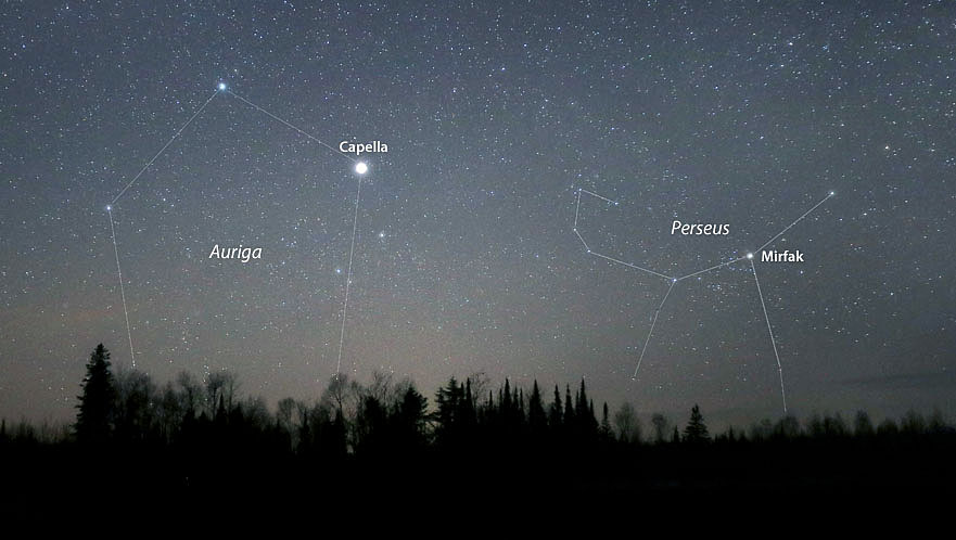 Comet SWAN among the constellations